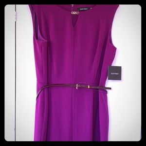 New! Ellen Tracy fuchsia/purple dress